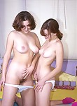 Two lesbian cuties having fun