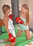 Two girls love to fight